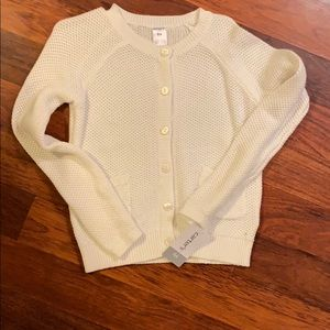 BRAND NEW WITH TAGS Carter's white knit cardigan